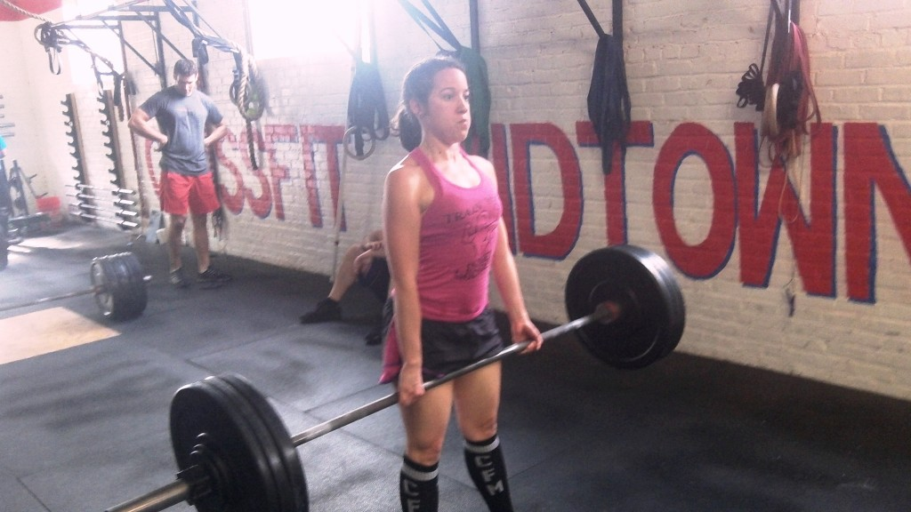 """Deadlift day. """"Train like a Goddess"""" to quote Hope's shirt"""