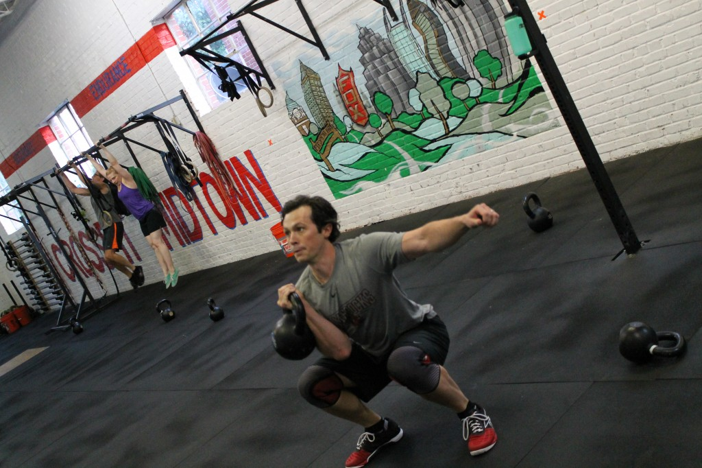 Ducat on the 1-Arm Kettlebell Front Squat