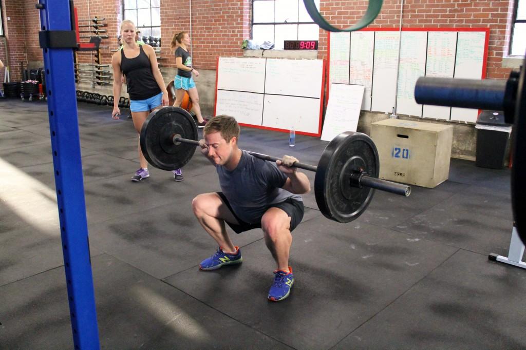 Dan warming up for squats