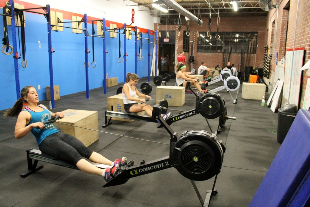 7pm class all on the rowers