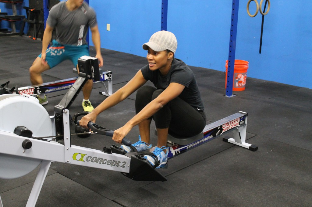 Donna racking up the Cals on the row.