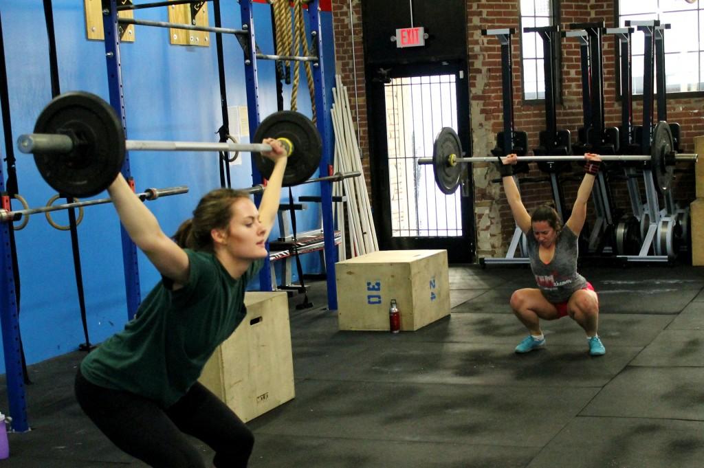 Narrow grip overhead squat or snatch width grip?