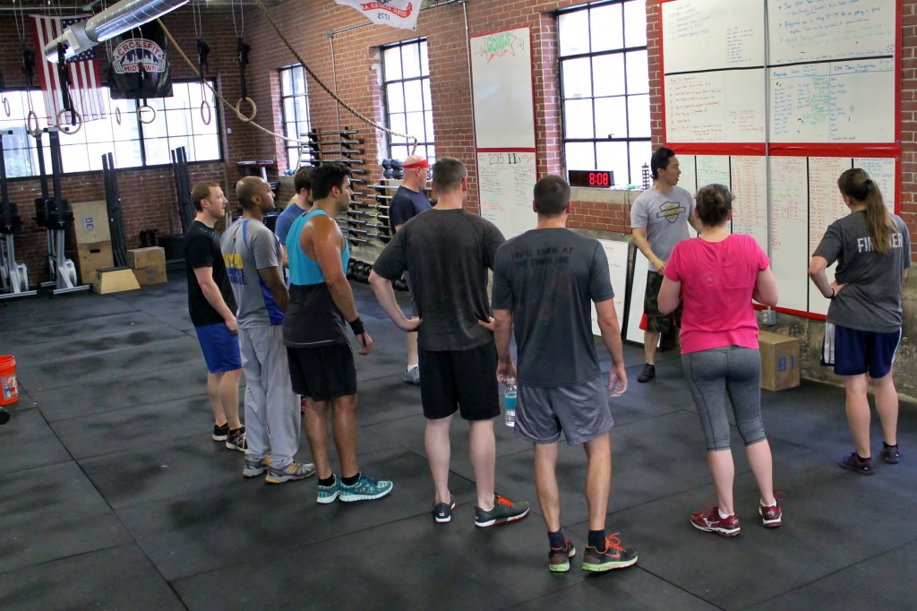 Coach Tom circling up the 6pm class