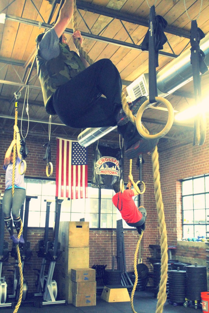Weighted vest rope climbs for bodyweight ninja Jason