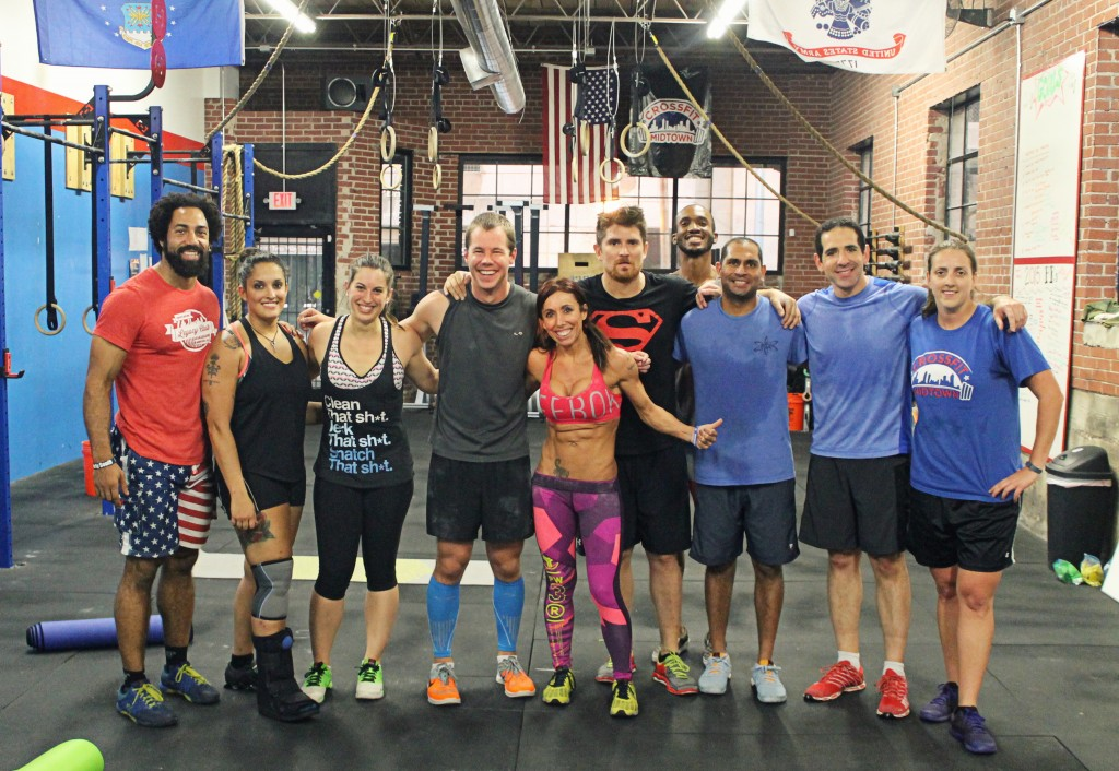 7pm Class after their Oly Total PRs and Airdyne Sprints