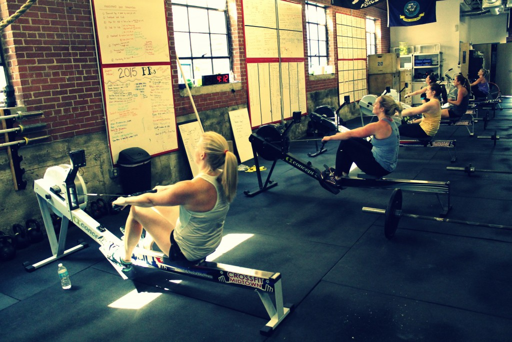 Noon class rowing