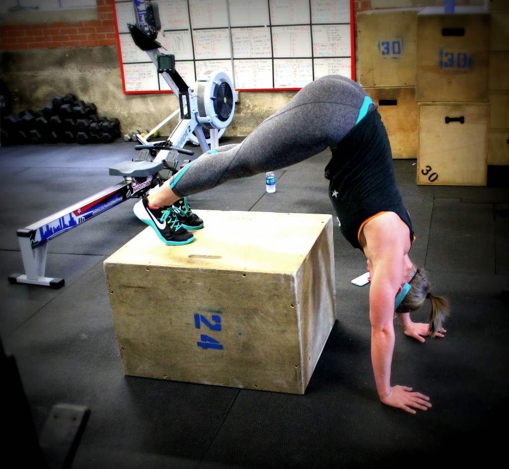 Coach Ellen pike handstand pushups